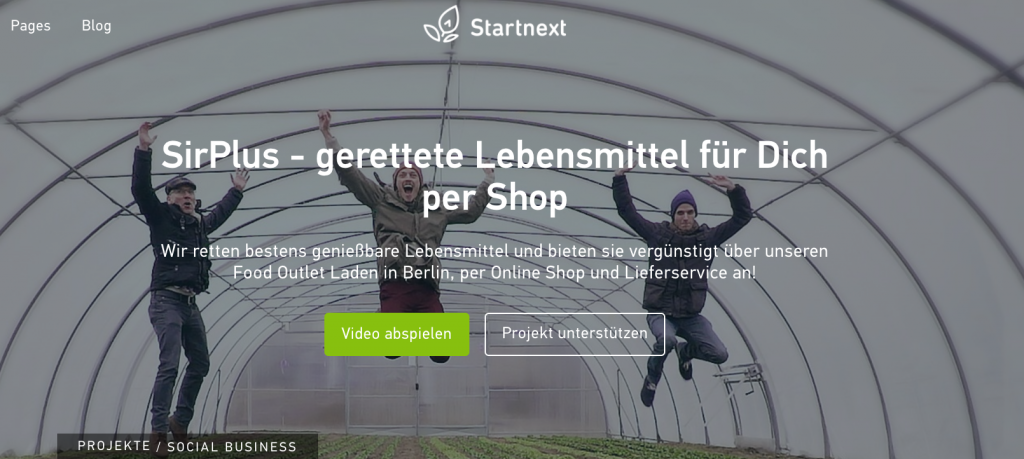 Startnext Crowdfunding SirPlus Project